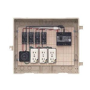 屋外電力用仮設ボックス(ベージュ色)感度電流30mA 1個価格 未来工業 14-31HC
