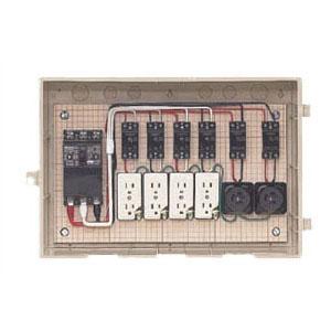 屋外電力用仮設ボックス(ベージュ色)感度電流30mA 1個価格 未来工業 15-42HC4