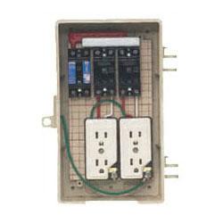屋外電力用仮設ボックス(ベージュ色)感度電流30mA 2A-2C 1個価格 未来工業 2A-2C