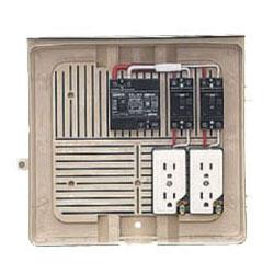 未来工業 屋外電力用仮設ボックス(ベージュ色)感度電流15mA 1個価格 2Y-2CT