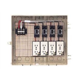 屋外電力用仮設ボックス 感度電流30mA C13-4CTB 1個価格 未来工業 C13-4CTB