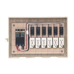 屋外電力用仮設ボックス 感度電流30mA C15-6C5 1個価格 未来工業 C15-6C5