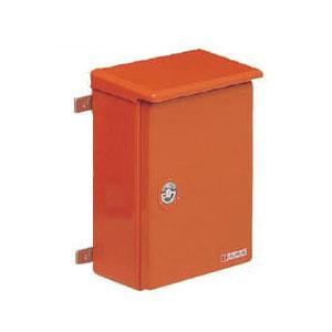 強化ボックス(屋根付・タテ型)扉片開き オレンジ色 1個価格 未来工業 FB-5040Y