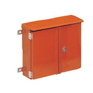 強化ボックス(屋根付・ヨコ型)扉両開き オレンジ色 1組価格 未来工業 FB-5265Y