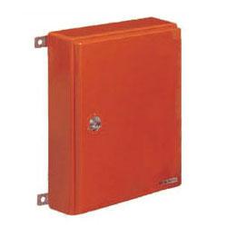 未来工業 強化ボックス(屋根無・タテ型)扉片開き オレンジ色 1個価格 FB-6552N