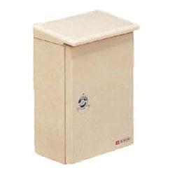 ベージュ色 FB-6552YJ 1個価格 未来工業 強化ボックス(屋根付・タテ型)扉片開き