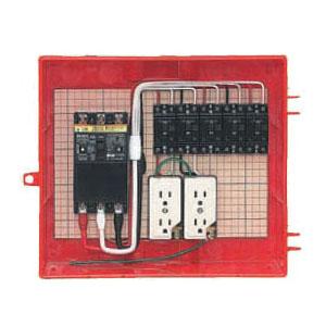 屋外電力用仮設ボックス(赤色)感度電流30mA RB-13AO4 1個価格 未来工業 RB-13AO4
