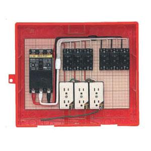 屋外電力用仮設ボックス(赤色)感度電流30mA RB-14AO4 1個価格 未来工業 RB-14AO4