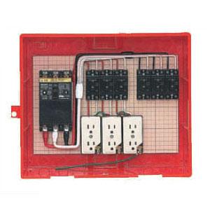 屋外電力用仮設ボックス(赤色)感度電流30mA RB-14AO5 1個価格 未来工業 RB-14AO5