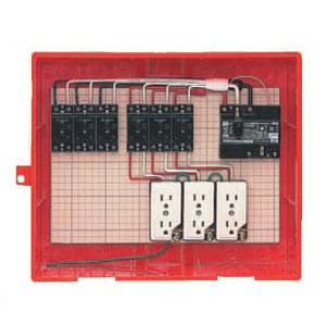 屋外電力用仮設ボックス(赤色)感度電流30mA RB-14AO 1個価格 未来工業 RB-14AO