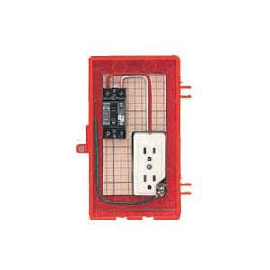 屋外電力用仮設ボックス(赤色)感度電流30mA RB-1A 1個価格 未来工業 RB-1A