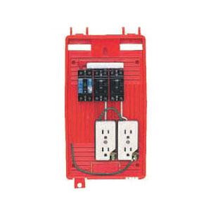 屋外電力用仮設ボックス(赤色)感度電流15mA 1個価格 未来工業 RB-2LT