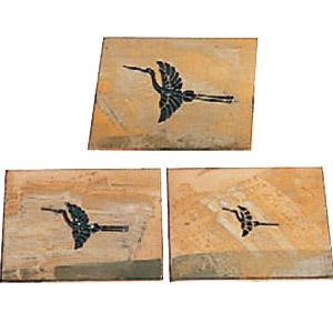 真鍮型板 祝型板(鶴) 3枚セット 盛光 DUSK-0103-tsuru