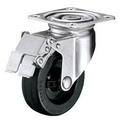 ハンマーキャスター ゴムキャスターSシリーズ(ステンレス金具)自在ストッパー付 車輪径150mm 315S-RU150