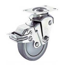 ハンマーキャスター クッションキャスター(ウレタン車輪・自在式ストッパー付)線径3.2mm 935BBE-BLB100-32