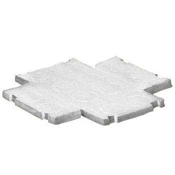 樹脂製埋込スイッチボックス用(10mm厚)断熱シート 4個用(ノック無)(20枚価格) ※受注生産品 未来工業 CSW-4-P