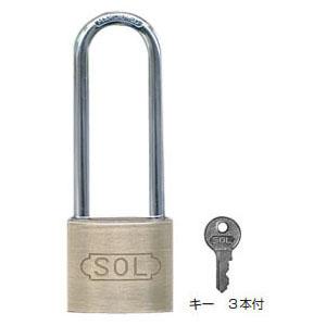 SOL HARD シリンダー南京錠【鍵違い】(ツル長)40mm(1箱・12個価格)(NO.2500