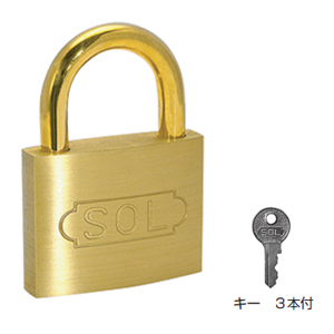 SOL HARD シリンダー南京錠【同一鍵】60mm(1箱・6個価格)(NO.2500