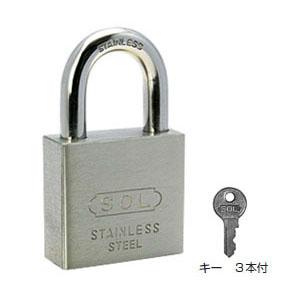 SOL HARD シリンダー南京錠(オールステンロック)【同一鍵】50mm(1箱・3個価格)(NO.3500