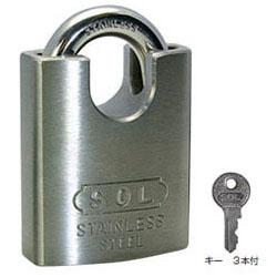 SOL HARD シリンダー南京錠【鍵違い】(パーフェクトロック)50mm(1箱・3個価格)(NO.8500