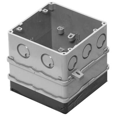 四角PCボックス 鉄塗代カバー付 75mm用 小判型 10個価格 未来工業 4CBL-T1275A