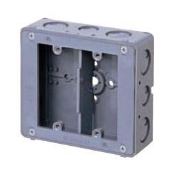 未来工業 埋込スイッチボックス(平塗代付・側面ノック付・2個用) 20個価格 CSW-2NF
