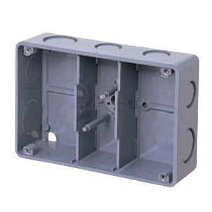埋込スイッチボックス(塗代無・側面ノック付・3個用深形) 20個価格 未来工業 CSW-3NY-O