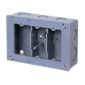 埋込スイッチボックス(平塗代付・側面ノック付・3個用深形) 20個価格 未来工業 CSW-3NYF