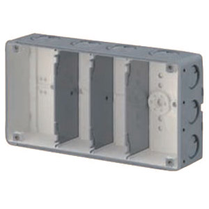 結露防止ボックス(埋込スイッチボックス塗代無・4個用) 10個価格 未来工業 CSW-4N-ODK