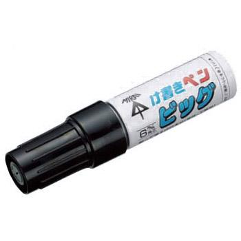 削って使えるけ書きペン ビッグ(約6×3mm角芯)赤 20本価格 未来工業 KPT-BR
