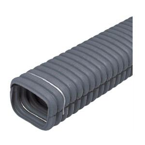 トラフレキ(波付合成樹脂トラフ)フラットタイプ サイズ200 長さ2m 1本価格 未来工業 TFX-F200S