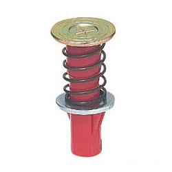 カラー・ヘッダーインサート(デッキプレート用・ばねタイプ) 3分ボルト用 赤 200個価格 未来工業 NDB-3R