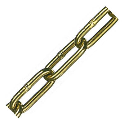 水本機械 アルミカラーチェーン(ゴールド)線径6×内長36×内巾10mm 1巻30m価格 AL-6CG