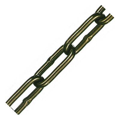 アルミカラーチェーン(ブラウン)線径8×内長38×内巾12mm 1巻30m価格 水本機械 AL-8CBN