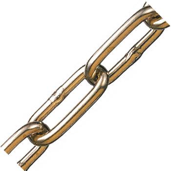 黄銅チェーン 線径7×内長37×内巾11mm 1巻30m価格 水本機械 BR-7
