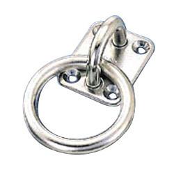 水本機械 ステンレス金具 丸カンプレート 10個価格 PR-9