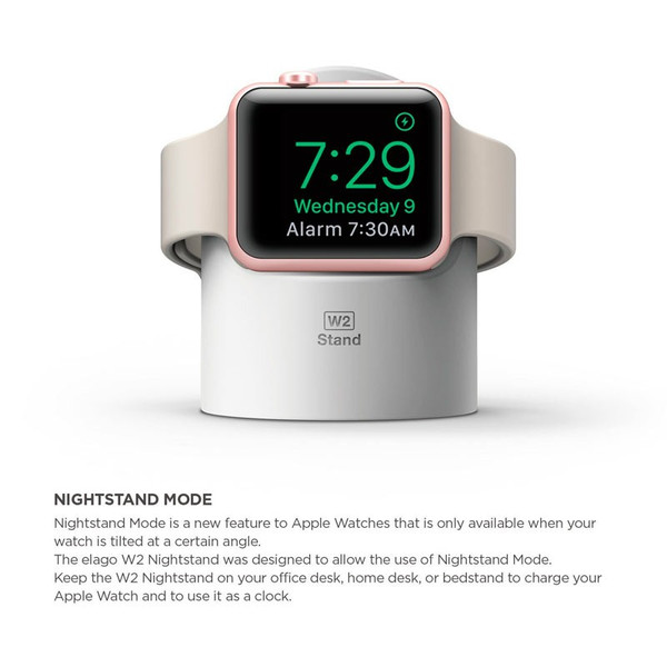 elago Apple Watch 専用 スタンド W2 STAND シリコン製 充電スタンド付(ネコポス便不可)