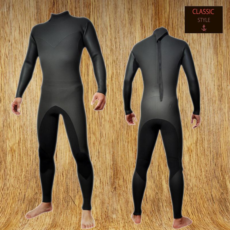 国内縫製 伸縮素材 BLACK CLASSIC 3mm フルスーツ FULLSUITE