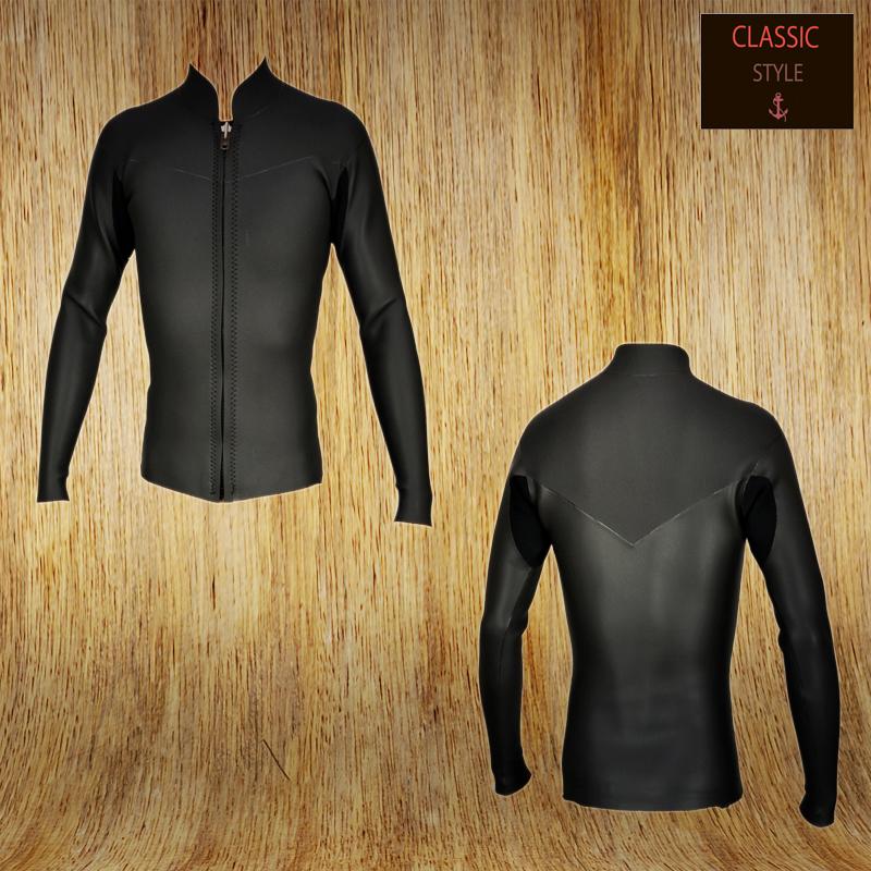 国内縫製 伸縮素材 BLACK CLASSIC 2mm L/Sタッパー