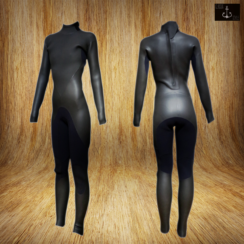国内縫製 伸縮素材 WOMEN BLACK CLASSIC Cali model 5x3mm セミドライ SEMIDRY インナーネック