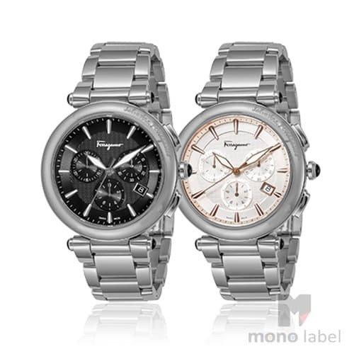 【並行輸入品】[SALVATORE FERRAGAMO] サルヴァトーレ フェラガモ 腕時計 メンズ イディリオ クロノグラフ FCP070017 FCP080017 ブラック ホワイト