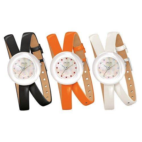【並行輸入品】[Folli Follie] フォリフォリ 腕時計 レディース ハート フォー ハート Heart4Heart Twin Watch ブラック オレンジ ホワイト WF13F030SSK-BK WF13F030SSO-OR WF13F030SSW-WH