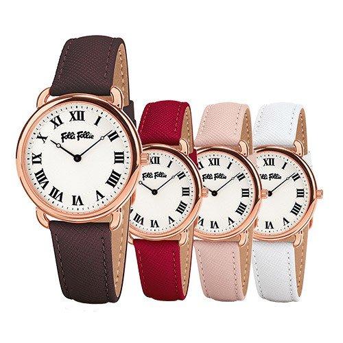 【並行輸入品】[Folli Follie] フォリフォリ 腕時計 レディース Perfect Match パーフェクト・マッチ ブラウン レッド ピンク ホワイト WF16R013SPS-BR WF16R013SPS-DR WF16R013SPS-PI WF16R013SPS-WH
