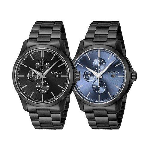 【並行輸入品】 グッチ 時計 メンズ GUCCI 腕時計 G-Timeless Gタイムレス YA126274 YA126275 ブラックステンレスベルト