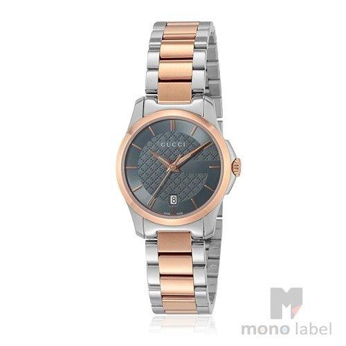 【並行輸入品】[GUCCI ] グッチ 腕時計 Gタイムレス G-TIMELESS レディース YA126527 シルバー×ローズゴールド