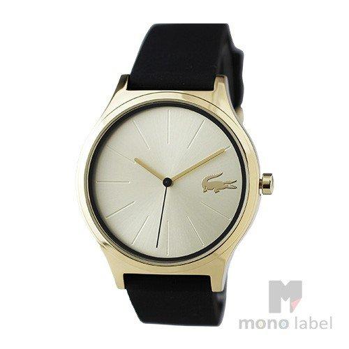 並行輸入品LACOSTEラコステ 腕時計 2000946 レディース メンズ ブラック×ゴールドWH92IED