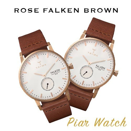 [TRIWA] トリワ 腕時計 ROSE FALKEN BROWN ペアウォッチ ユニセックス FAST101.CL010214