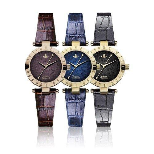 【並行輸入品】 ヴィヴィアンウエストウッド 腕時計 VIVIENNE WESTWOOD レディース レザー VV092BRBR VV092NVNV VV092BKBK