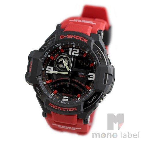 【逆輸入品】【箱訳あり】 カシオ CASIO 腕時計 G-SHOCK ジーショック スカイコックピット メンズ レッド GA-1000-4B 箱訳あり 海外モデル 【1904お買い物】