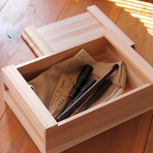 【松野屋 大工の道具箱 小浅型】木箱 収納道具 箱 ボックス 大工 杉 収納 職人■ ラッピング不可